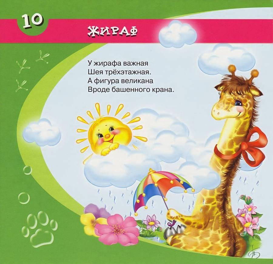 Стихи про жирафа для детей