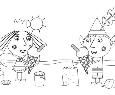 Раскраска Маленькое королевство Бена и Холли
