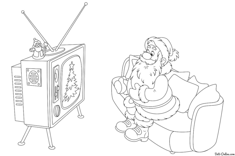 Раскраска Дед Мороз и Снегурочка на детском интернет ...