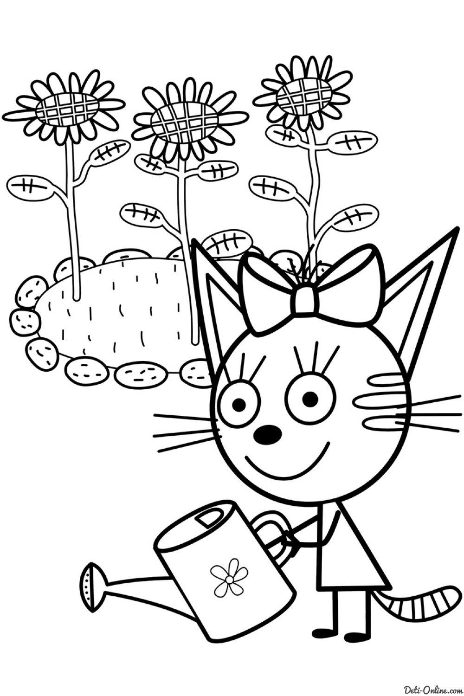 Раскраска Три кота