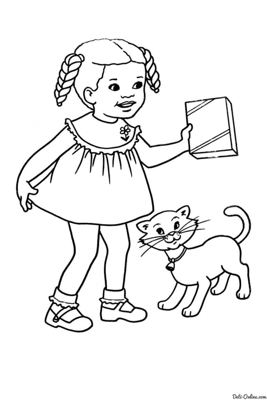 Раскраска Коты, кошки и котята