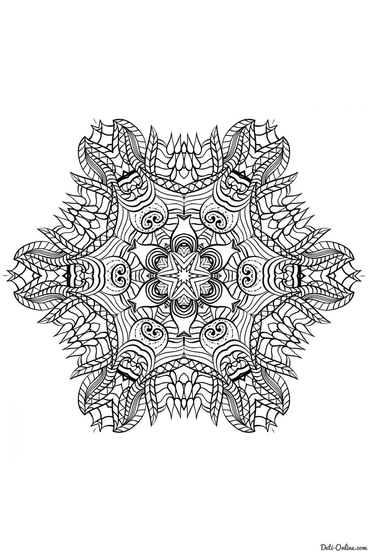 Раскраска Мандалы