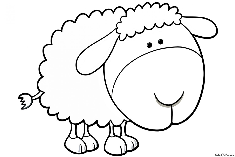 Раскраска Козы и овечки