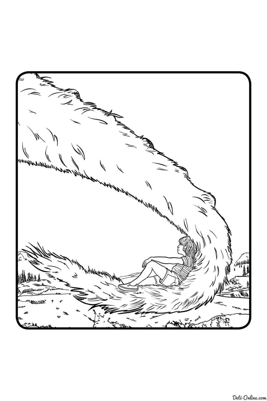 Раскраска Пит и его дракон