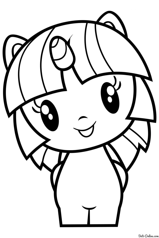 Раскраска Поняшки Май литл пони