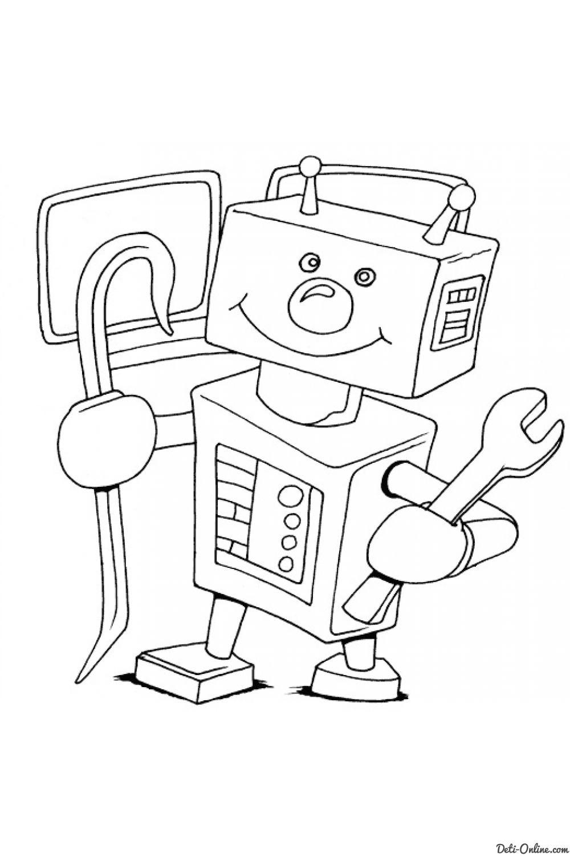 Раскраска Роботы