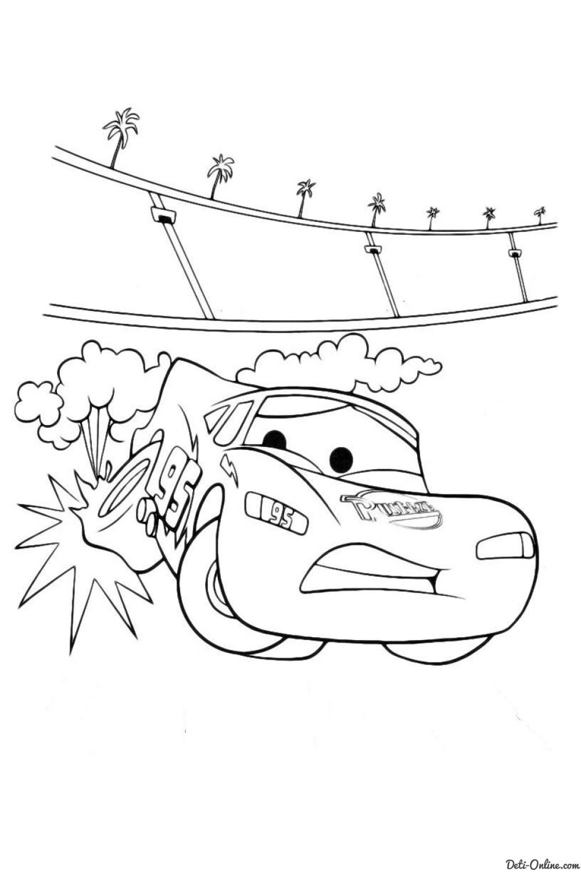Раскраска Тачки и Тачки-2
