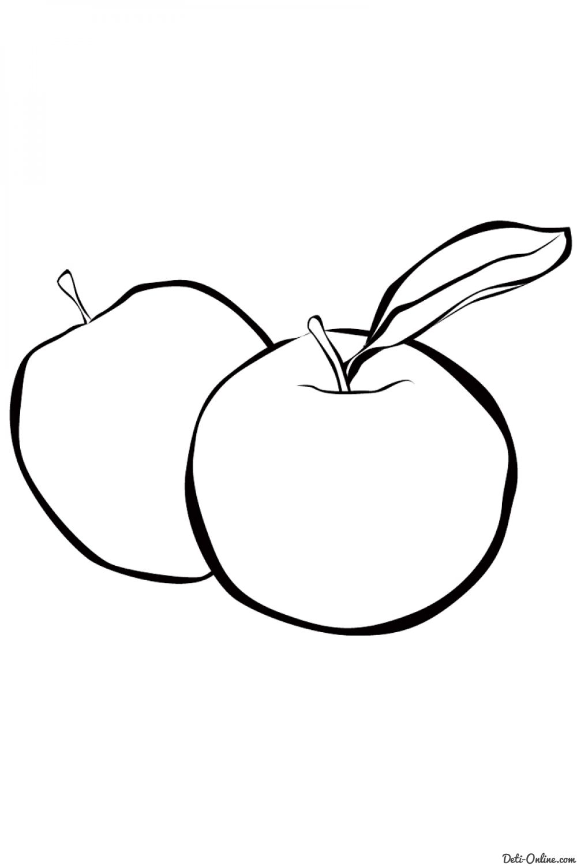 Раскраска Ягоды и фрукты